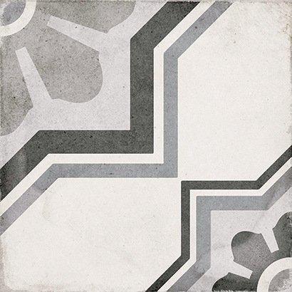 Art Nouveau Capitol Grey 20cm x 20cm