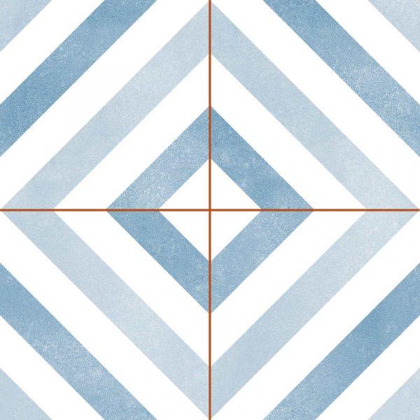 Geometrics Blue 45cm x 45cm