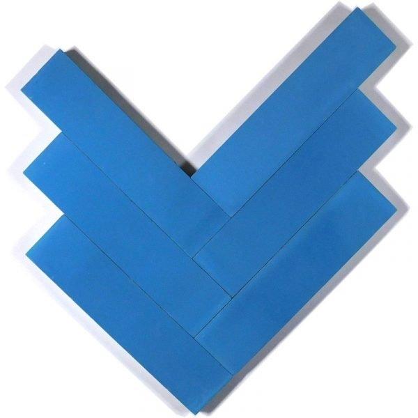 Moroccan Encaustic Cement Light Blue 5cm x 20cm