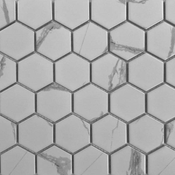Carrara Medium Hex 28.5cm 32.5cm
