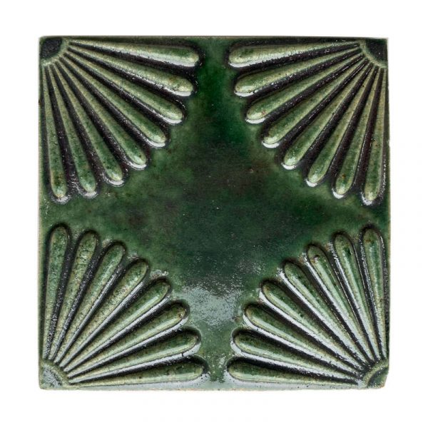 Zellige Daisy Dark Green 15cm x 15cm