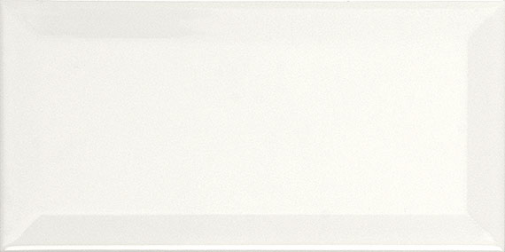 Metro Subway White Bevelled Shiny 10cm x 20cm