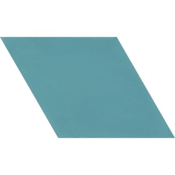 Moroccan Encaustic Cement Rhombus Aquamarine