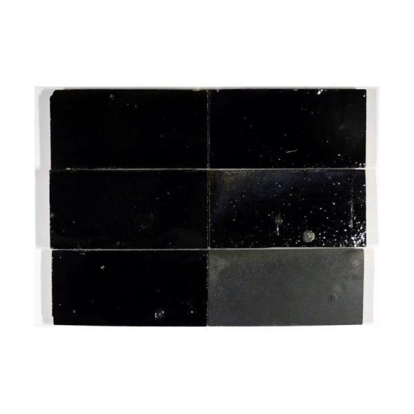 Zellige Metallic Black 15cm x 7.5cm
