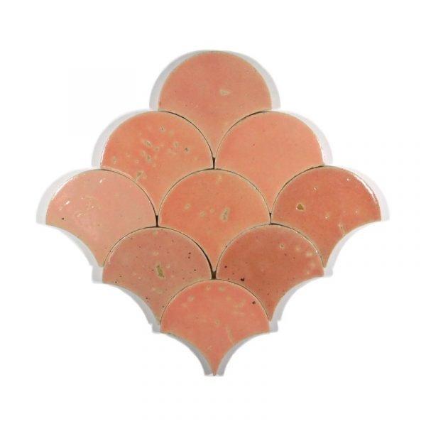 Zellige Cotton Candy Fishscale 12cm x 12cm