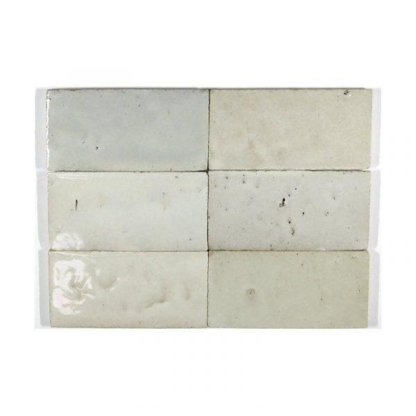 Zellige White 15cm x 7.5cm