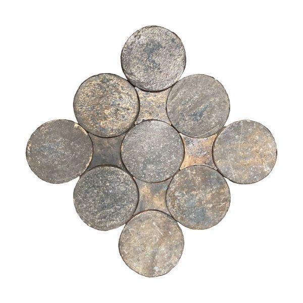 Zellige Circle Iron Copper 13.4cm