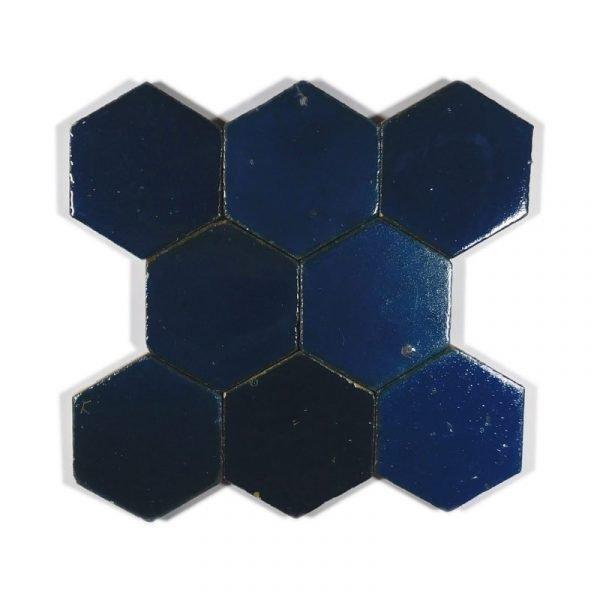 Zellige Hexagonal Dark Turquoise 11cm x 12.7cm