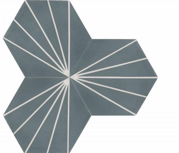 Moroccan Encaustic Cement Hexagonal Artic 17