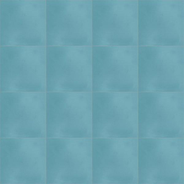 Moroccan Encaustic Cement Aquamarine
