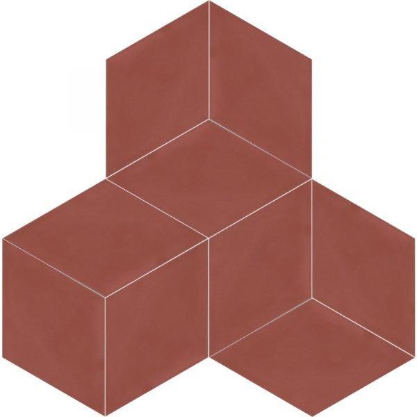 Moroccan Encaustic Cement Rhombus Red