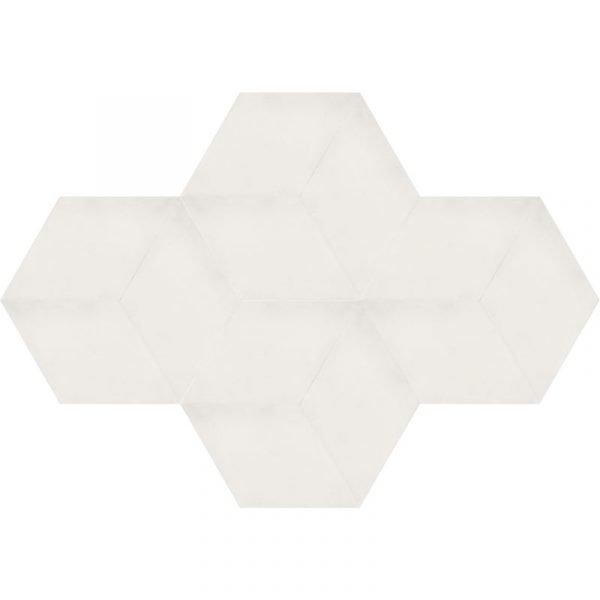 Moroccan Encaustic Cement Rhombus White