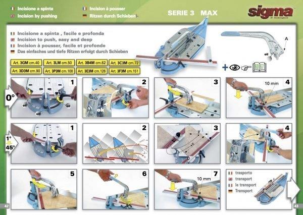 Sigma Tile Cutter Serie 3 Max 151cm