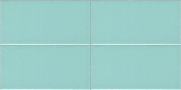 Metro Subway Turquoise Flat Shiny 10cm x 20cm