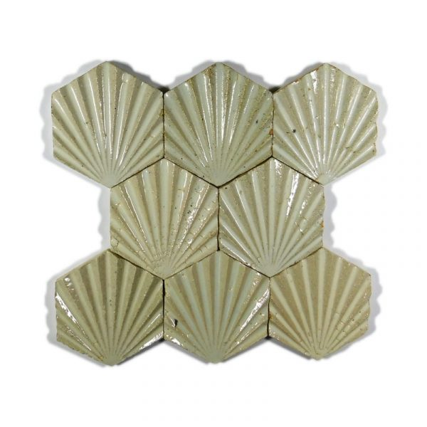 Zellige Hexagonal Scallop White 11cm x 12.7cm