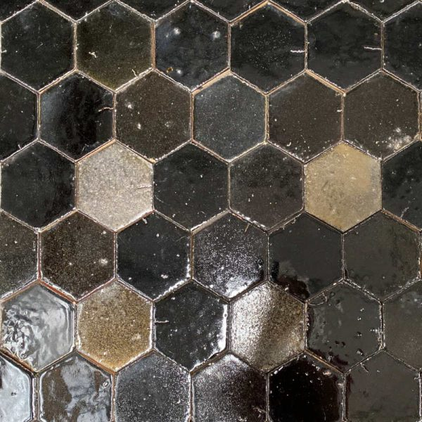 Zellige Hexagonal Black 11cm x 12.7cm