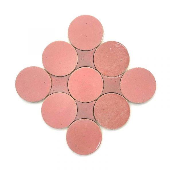 Zellige Circle Pink 13.5cm